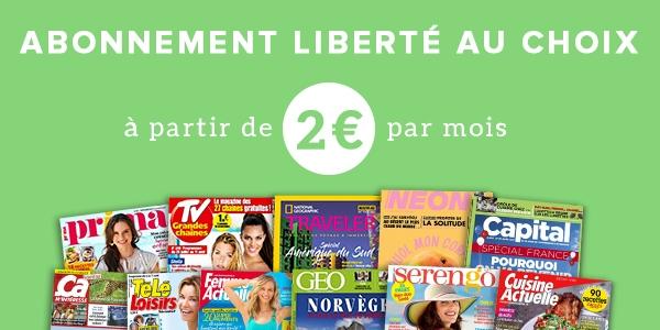 Abonnement liberté à partir de 2€ par mois
